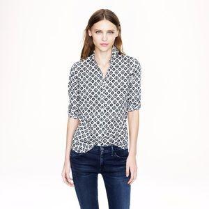 🌿 RARE J. Crew Perfect fit button down blouse